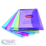 Rapesco Popper Wallet Foolscap Assorted (5 Pack) 0688