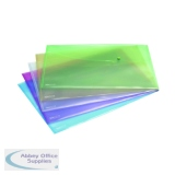 Rapesco A3 Pastel Assorted Popper Wallet (5 Pack) 0697