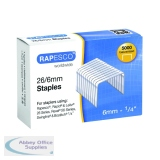 Rapesco 26/6mm Staples (5000 Pack) S11662Z3
