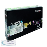 Lexmark C734DN Return Programme Toner Cartridge 6K Cyan C734A1CG