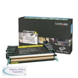 Lexmark C736 Return Programme Toner Cartridge High Yield 10K Yellow C736H1YG