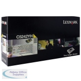 Lexmark C524/C534 Toner Cartridge High Yield Yellow C5242YH