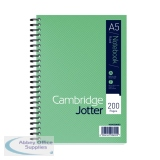 Cambridge Ruled Margin Wirebound Jotter Notebook 200 Pages A5 (3 Pack) 400039063