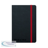 Black n\' Red Casebound Hardback Notebook A6 Black 400033672
