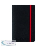 Black n\' Red Soft Cover Notebook A6 Black 400051205