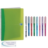 Oxford Translucent A4 Notebook (5 Pack) Buy 2 get FOC Uniball Pens JD03226