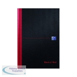 Black n\' Red Ruled Casebound Hardback Notebook 192 Pages B5 (5 Pack) 400082917