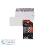 Plus Fabric DL Envelope 110gsm Peel and Seal White (25 Pack) R10004