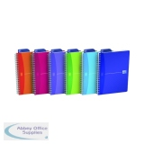Oxford Poly Translucent Wirebound Notebook A5 Assorted (5 Pack) 100104780