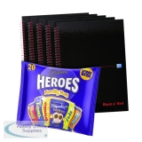 BUY BnR A4 WB Glossy 5 Pack Ruled Plus FOC Heroes Family Bag