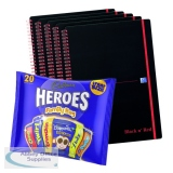 BUY BnR A4 WB Polyp 5 Pack Ruled Perforated Plus FOC Heroes Family Bag