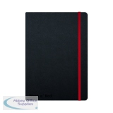 Black n\' Red Casebound Hardback Notebook A5 Black 400033673