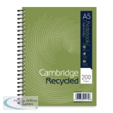 Cambridge Recycled Ruled Wirebound Notebook 200 Pages A5+ (3 Pack) 100080106