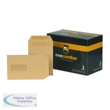 New Guardian C5 Envelopes Window Pocket Self Seal 130gsm Manilla (250 Pack) A23013