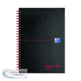 Black n\' Red Recycled Ruled Wirebound Hardback Notebook A5 (5 Pack) 846350962