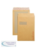 New Guardian Board Back C4 Window Envelope 130gsm Manilla Peel and Seal (125 Pack) B26526