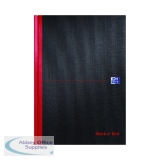 Black n\' Red A-Z Casebound Hardback Notebook A4 (5 Pack) 100080432