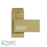 New Guardian DL Envelopes Window Pocket Self Seal 80gsm Manilla (1000 Pack) D25311