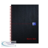 Black n\' Red Ruled Wirebound Hardback Notebook 140 Pages A5 (5 Pack) 846354906