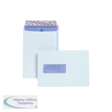 Plus Fabric C5 Envelopes Window Peel and Seal 120gsm White (500 Pack) E24970