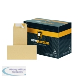 New Guardian DL Envelopes Pocket Peel and Seal Heavyweight 130gsm Manilla (500 Pack) E26503