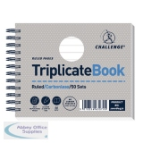 Challenge Wirebound Triplicate Book Ruled Carbonless 50 Sets 105 x 130mm (5 Pack) 100080472