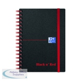 Black n\' Red Ruled Polypropylene Wirebound Notebook 140 Pages A6 (5 Pack) 100080476