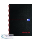 Black n\' Red A5 Wirebound Hardback A-Z Indexed Notebook (5 Pack) 100080194