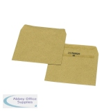 New Guardian Wage Envelope 108 x 102mm Plain 80gsm Manilla Self Seal (1000 Pack) L20219