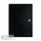Black n\' Red A-Z Wirebound Hardback Notebook A4 (5 Pack) 100080232