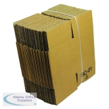 Single Wall Corrugated Dispatch Cartons 127x127x127mm Brown (25 Pack) SC-01