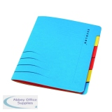 Jalema Secolor Sixtab 6- Part File A4 Blue (5 Pack) 8331600-10791