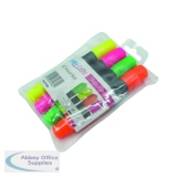 Ergo-Brite Assorted Erognomic Highlighter Pens (4 Pack) JN69980