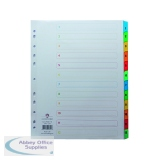 Concord A4 Extra Wide 12-Part 1-12 MultiColour Index 09801/CS98