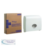 Aquarius Ripple Midi Jumbo Non-Stop Toilet Tissue Dispenser White 6991