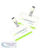 Q-Connect Hot Laminating ID Badge With Clip (25 Pack) KF00302