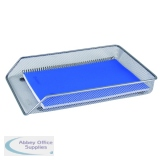 Q-Connect Mesh A4 Silver Letter Tray KF00843