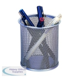 Q-Connect Mesh Silver Pen Pot KF00846