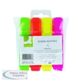 Q-Connect Assorted Highlighter Pens (4 Pack) KF01116