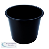 Q-Connect 15 Litre Black Waste Bin CP025KFBLK