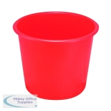 Q-Connect Waste Bin 15 Litre Red CP025KFRED