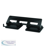 Q-Connect 4 Hole Punch Black KF01238