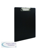 Q-Connect PVC Single Clipboard Foolscap Black KF01296