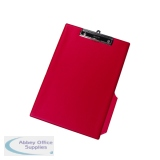 Q-Connect PVC Single Clipboard Foolscap Red KF01298
