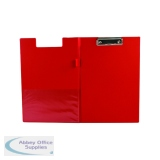 Q-Connect PVC Foldover Clipboard Foolscap Red KF01302