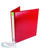 Q-Connect 25mm A4 Red Presentation 4D-Ring Binder KF01326