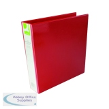 Q-Connect 40mm A4 Red Presentation 4D-Ring Binder KF01330