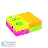 Q-Connect Quick Note Repositionable Pad 125x75mm Assorted Neon