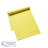 Q-Connect Ruled Stitch Bound Executive Pad 50 Pages A4 Yellow (10 Pack) KF01387