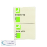 Q-Connect Repositionable Quick Notes 76 x 102mm Yellow (12 Pack) KF01410